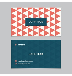 Business card pattern red 03 vector