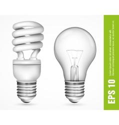 energy saving light bulbs vector image