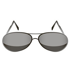 Glasses black 1 v vector