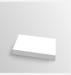 Stack of clean business cards vector image