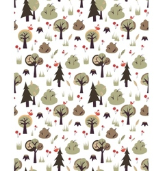 Pattern with birds and trees vector
