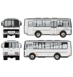 Urban suburban passenger mini-bus vector