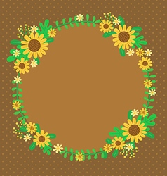 Sunflowers spring card vector
