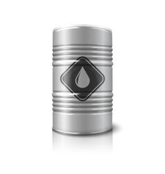 realistic big barrel - oil sign isolated vector image