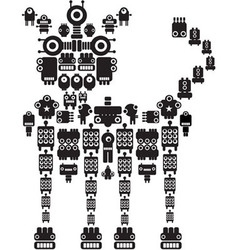 robot dog vector image