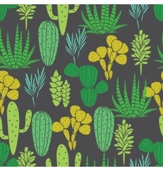 Succulents plant seamless pattern vector
