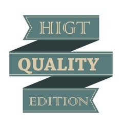 Higt quality vintage styled ribbon vector