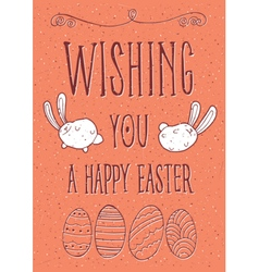 Wishing you a happy easter vector