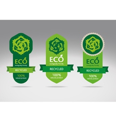 Recycling label vector