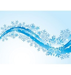 Winter flowing background vector image