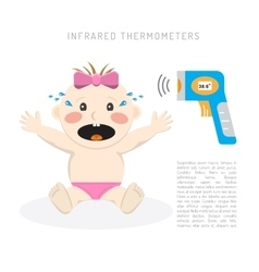 Temperature measurement baby vector