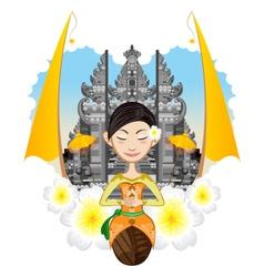 Balinese girl vector