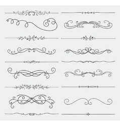 Black doodle hand drawn swirls collection vector