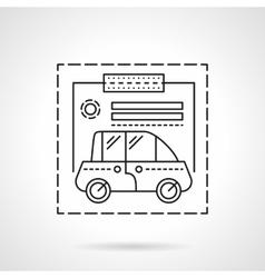 Car insurance flat line design icon vector