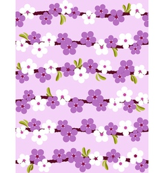 cherry blossom seamless background vector image