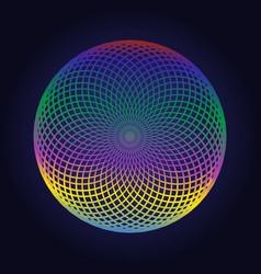 color circle mandala geometric logo design vector image vector image