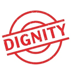 Dignity rubber stamp vector