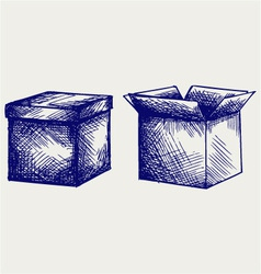 Empty cardboard box vector image