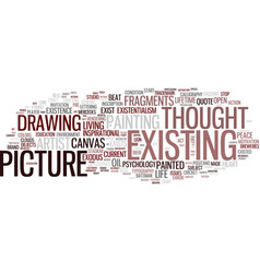 Existing word cloud concept vector