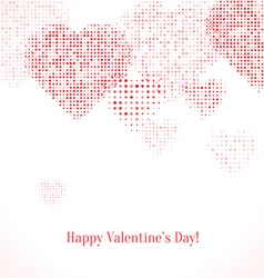 Festive background with hearts vector