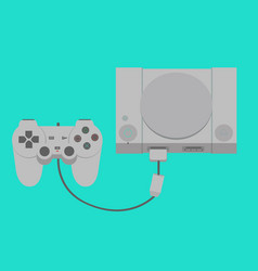 game player old version with insert joysticks vector image