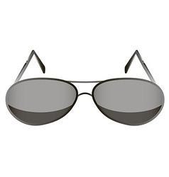glasses black 1 v vector image vector image