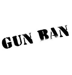 Gun ban rubber stamp vector