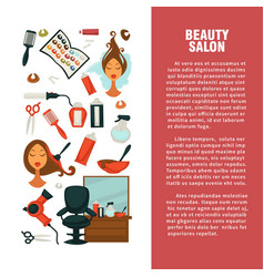 Hairdresser beauty salon hair coloring or vector