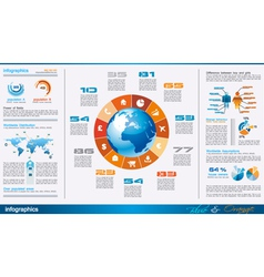 infographics page with a lot of design elements vector image vector image