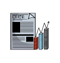 Newspaper icon image vector