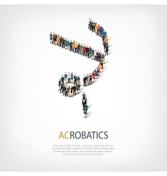 People sports acrobatics vector