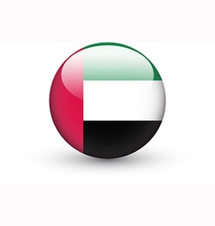 Round icon with flag of the United Arab Emirates vector image vector image