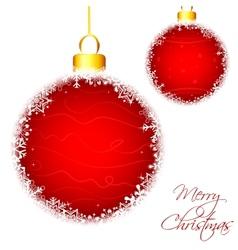 Snowflakes Christmas Baublel vector image