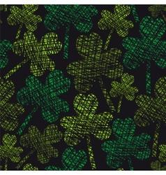 St Patricks Day vintage seamless clover pattern vector image vector image