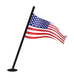 USA flag resize vector image vector image