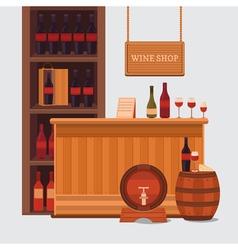 a wine shop vector image