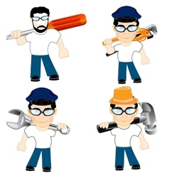 Men with tools vector