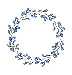 decorative floral crown icon vector image