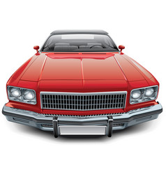 vintage american coupe convertible vector image