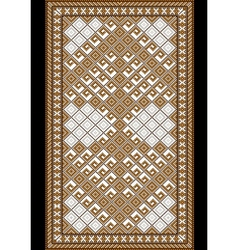 Light carpet with brown shade vector