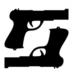 two guns vector image