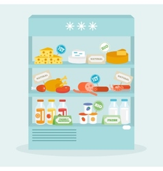 Food in fridge collection vector