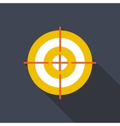 Target flat icon with long shadow vector