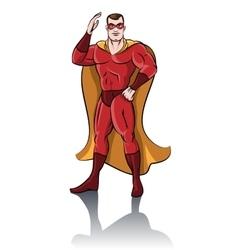 Standing superhero vector