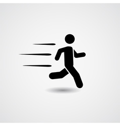 Running icon vector