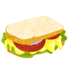 Sandwich with cheese vector