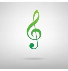 Violin clef green icon vector