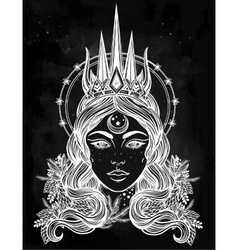 Fantasy nothern queen vector
