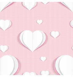 Seamless pattern with paper hearts vector