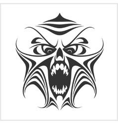 Virus computer demon phantom alien predator vector